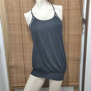 Lululemon tank top sports bra black gray knit
